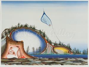 """Dreamers Rock and the Little Children"" by James Simon Mishibinijima"