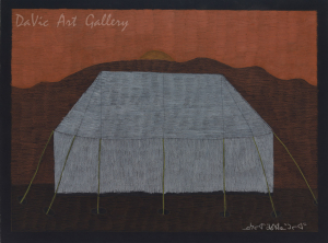 'Tent' by Nujalia Quvianaqtuliaq - Cape Dorset original Inuit Art drawing