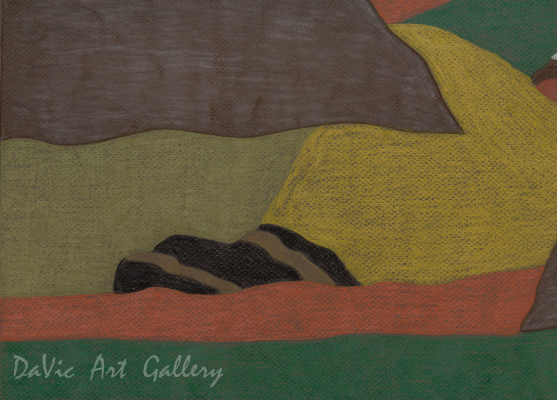'Valley' by Nujalia Quvianaqtuliaq - Cape Dorset original Inuit Art drawing
