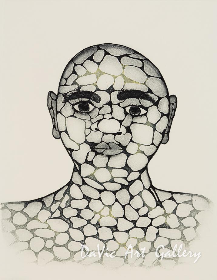 'Pebble Man' by Padloo Samayualie- Cape Dorset 2018