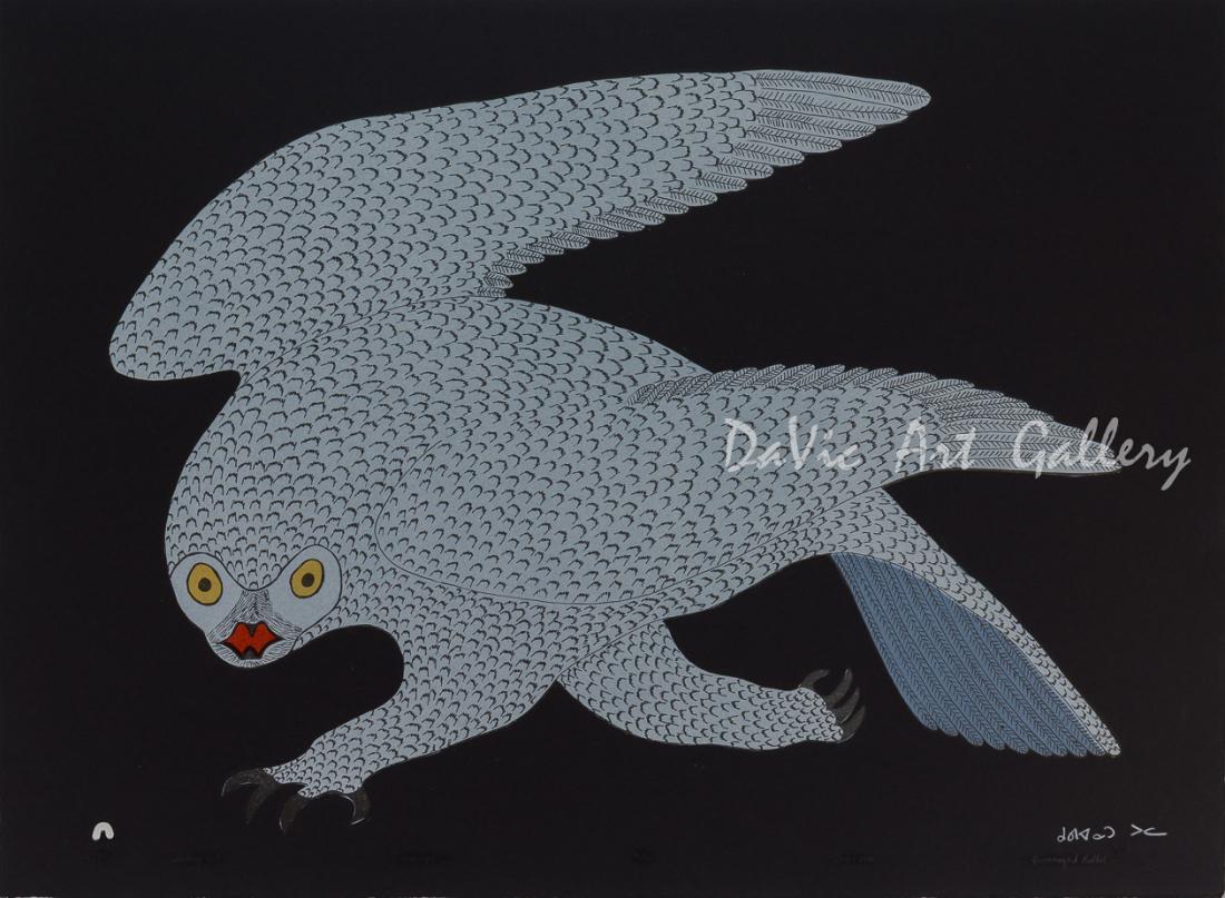 'Stalking Owl' by Quvianaqtuk Pudlat - Cape Dorset 2018