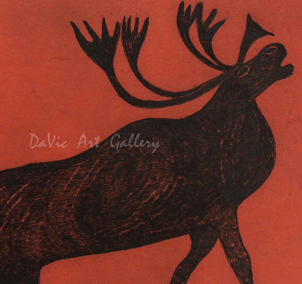 """Rearing Caribou"" by Quvianaqtuk Pudlat"