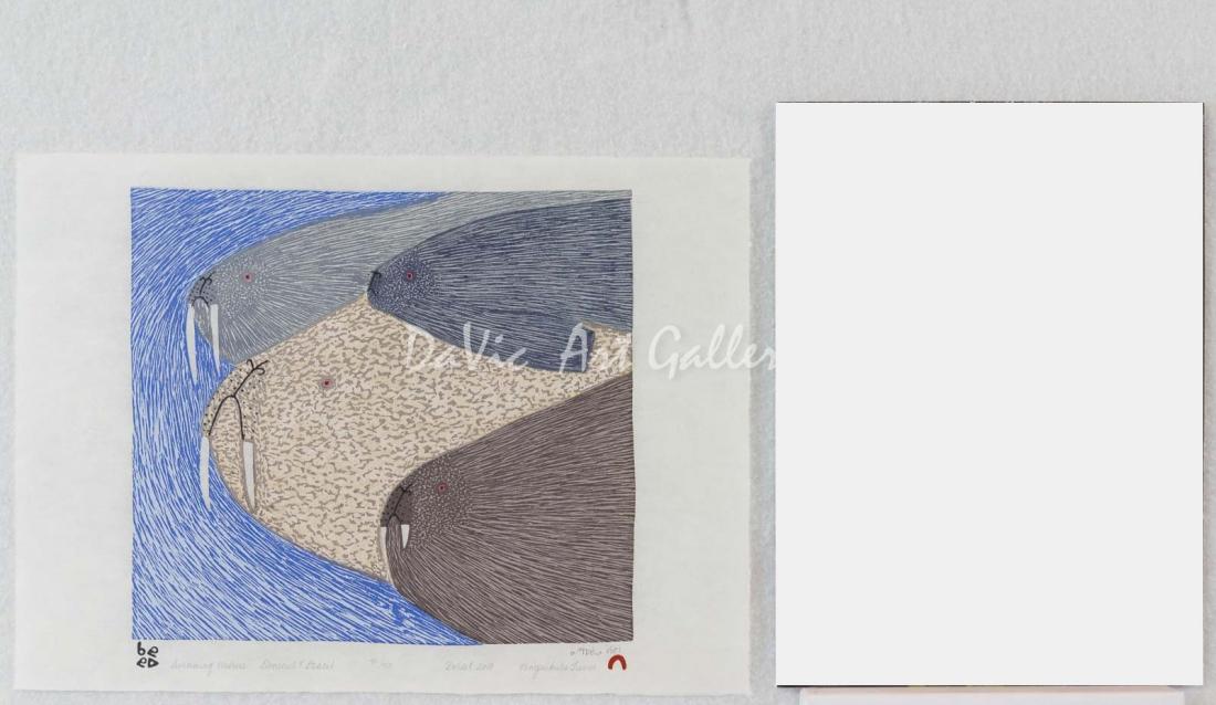 'Swimming Walrus' by Ningeokuluk Teevee