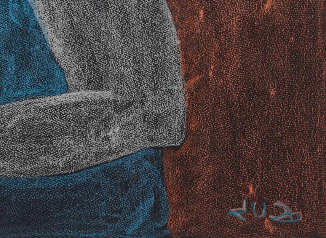 'Miqsuqtuq (She Sews)' by Jutai Toonoo - Cape Dorset original Inuit Art drawing