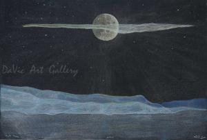 'Night Sky' by Jutai Toonoo - Cape Dorset original Inuit Art drawing