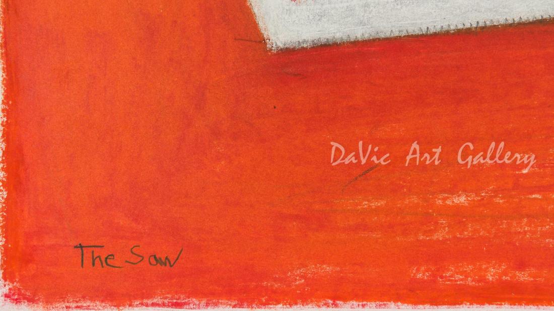 'The Saw' by Jutai Toonoo - Cape Dorset original Inuit Art drawing