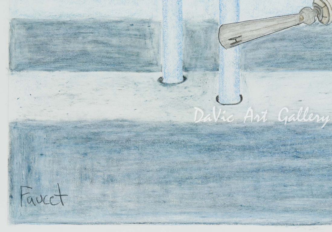 'Faucet' by Jutai Toonoo - Cape Dorset original Inuit Art drawing
