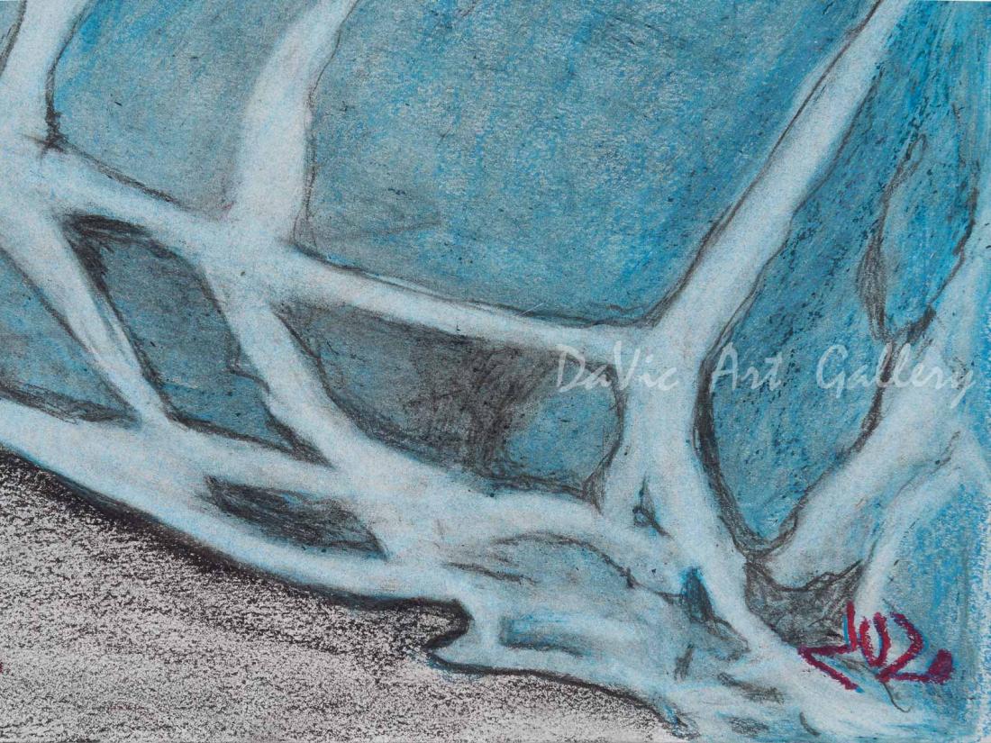 'The Cushion' by Jutai Toonoo - Cape Dorset original Inuit Art drawing