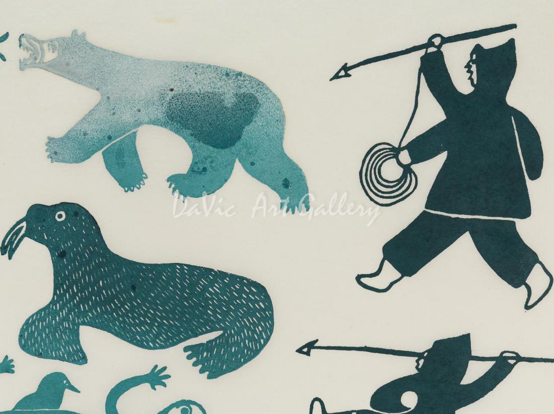 'Hunter's Vision' by Innukjuakju Pudlat - Cape Dorset Limited Edition Art print