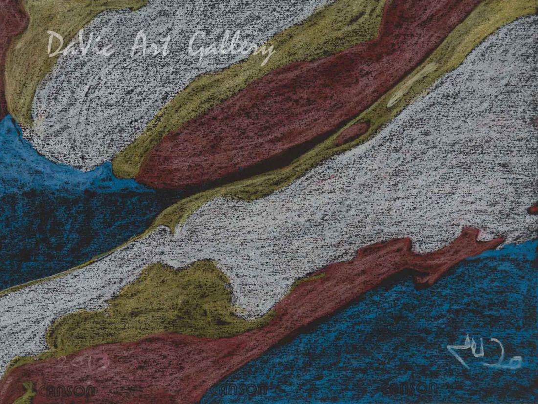'Night Time' by Jutai Toonoo - Cape Dorset original Inuit Art drawing
