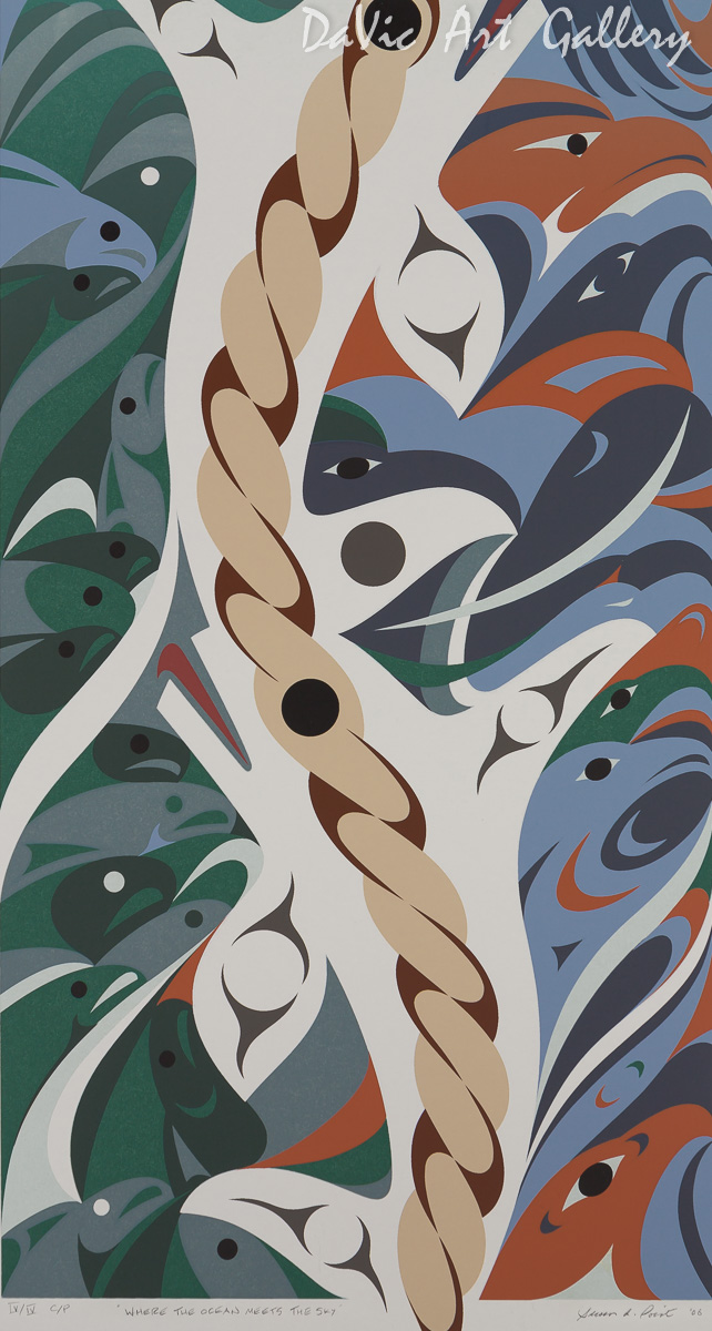 'Where the Ocean Meets the Sky' by Susan Point - Northwest Coast Coast Salish Art