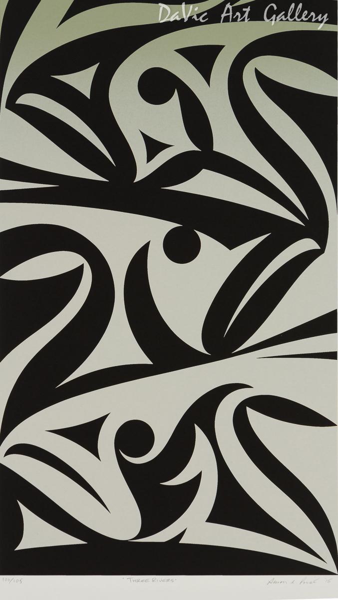 'Three Rivers' by Susan Point - Northwest Coast Coast Salish Art