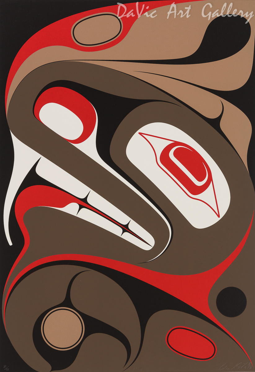 'T'sing' by Ben Davidson - Northwest Coast Haida Art