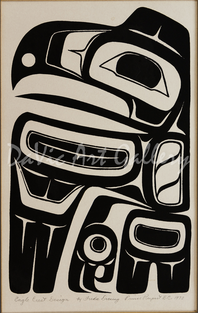 'Eagle Crest Design' by Freda Diesing - Northwest Coast Haida Art