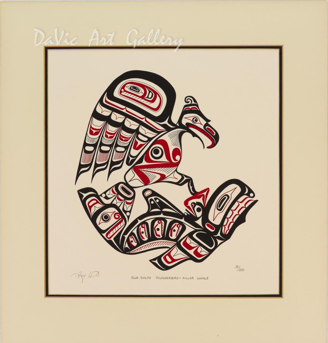 'Kwa-Gulth Thunderbird and Killer Whale' by Tony Hunt - Northwest Coast Kwakwaka'wakw Art