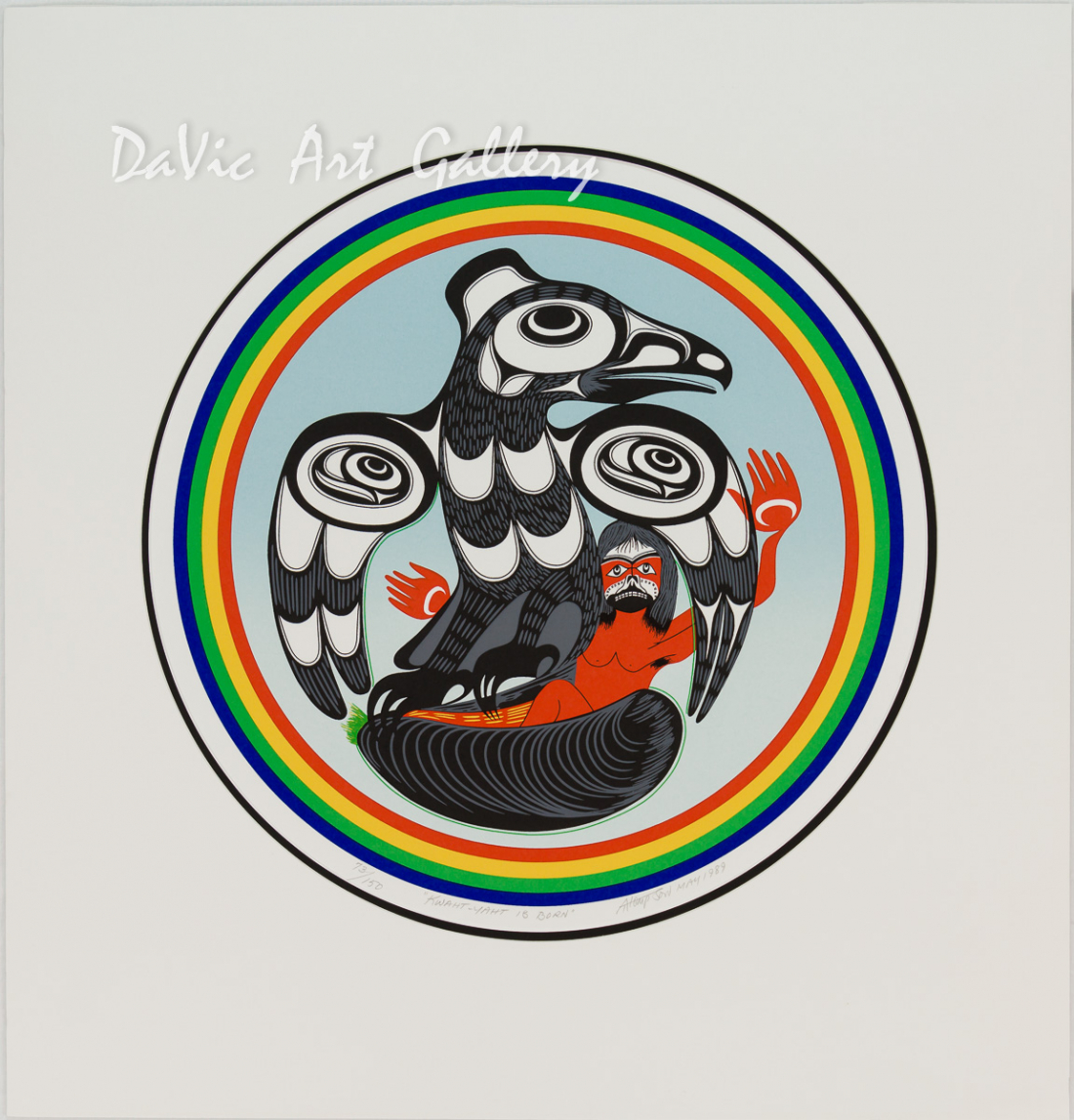'Kwaht-Yaht is Born' by Art Thompson - Northwest Coast Nuu-Chah-Nulth Art