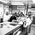 PARR with Inuit artists at Cape Dorset print studio