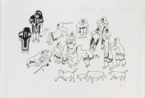 'Winter Pastimes' by Hannah Kigusiuq - Baker Lake Inuit Art Limited Edition print