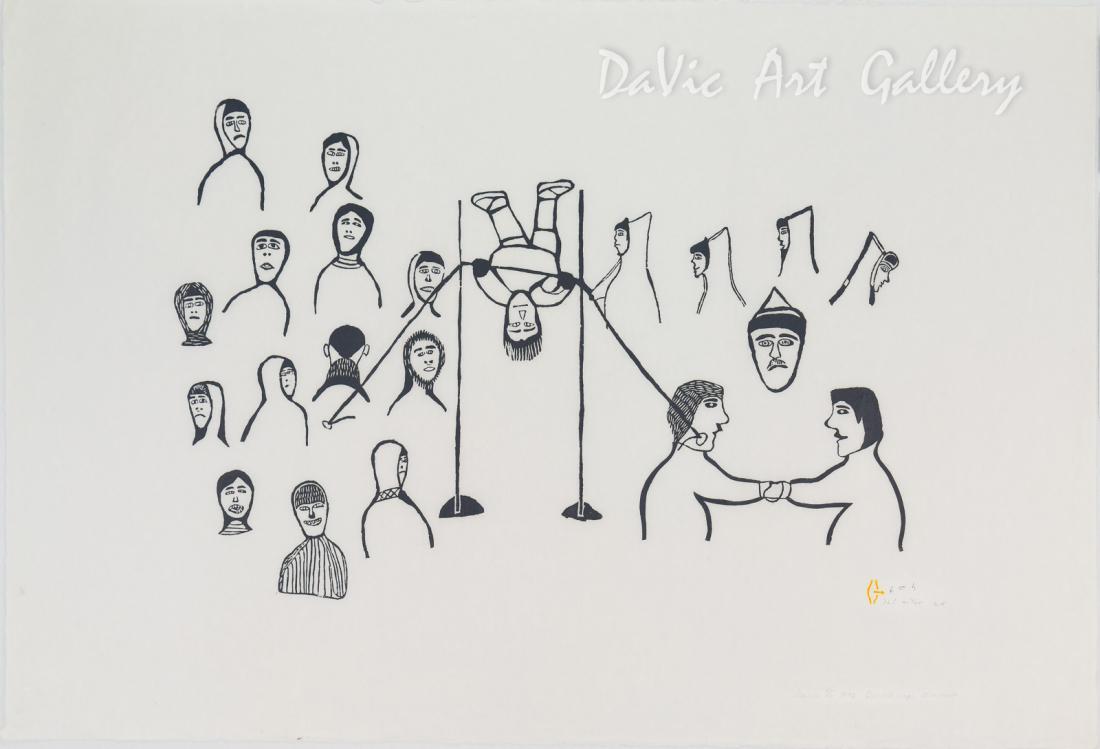 'Games' by Harold Qarliksaq - Baker Lake Inuit Art Limited Edition print