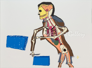 'The Vision of a Man Cutting Snow Blocks' by William Noah - Baker Lake Inuit Art Limited Edition print