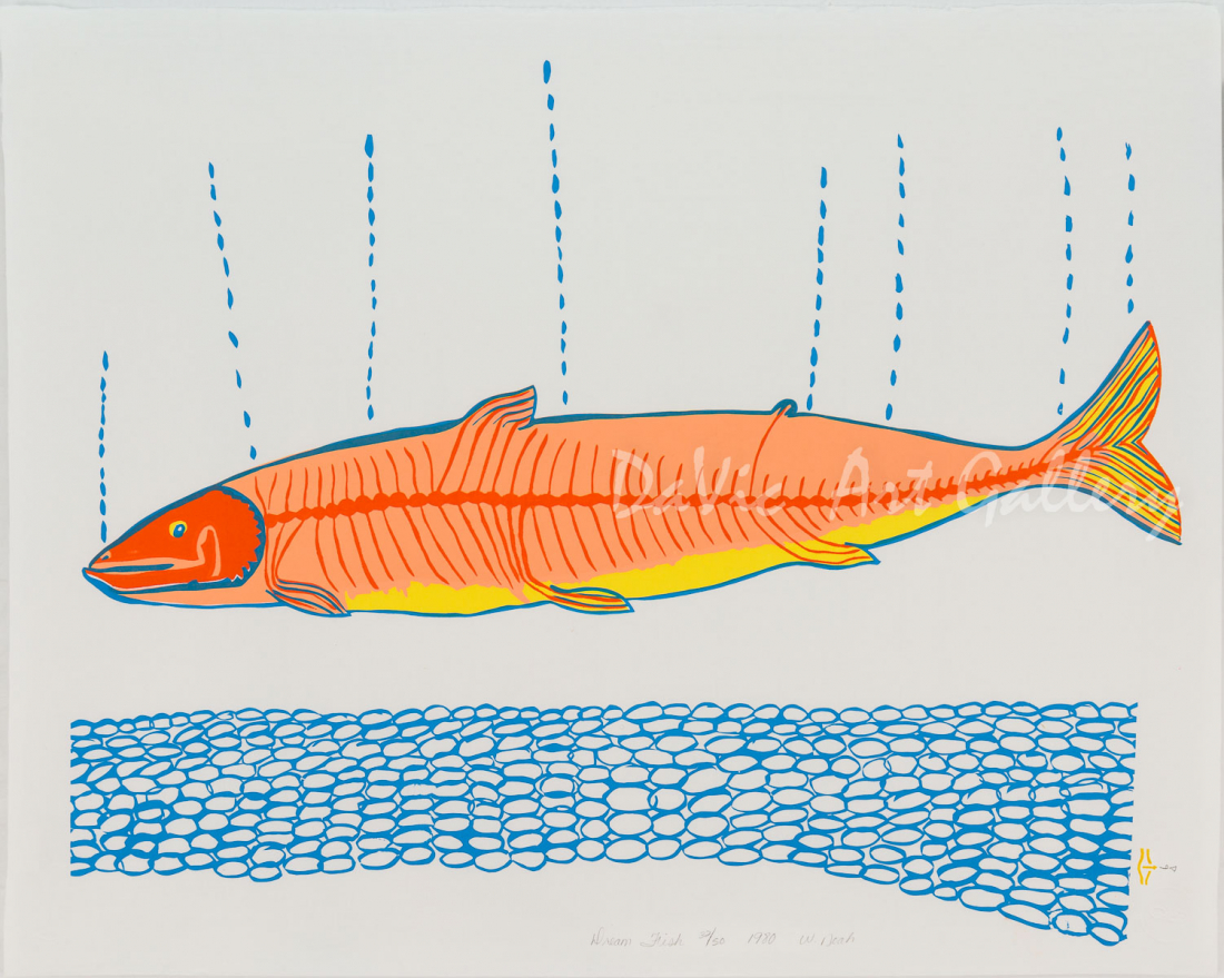 'Dream Fish' by William Noah - Baker Lake Inuit Art Limited Edition print