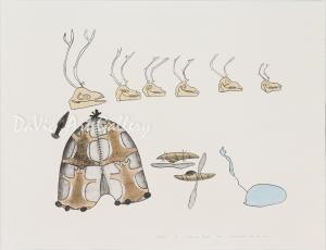 'Summer Camp' by Mark Emerak - Holman Inuit Art Limited Edition print