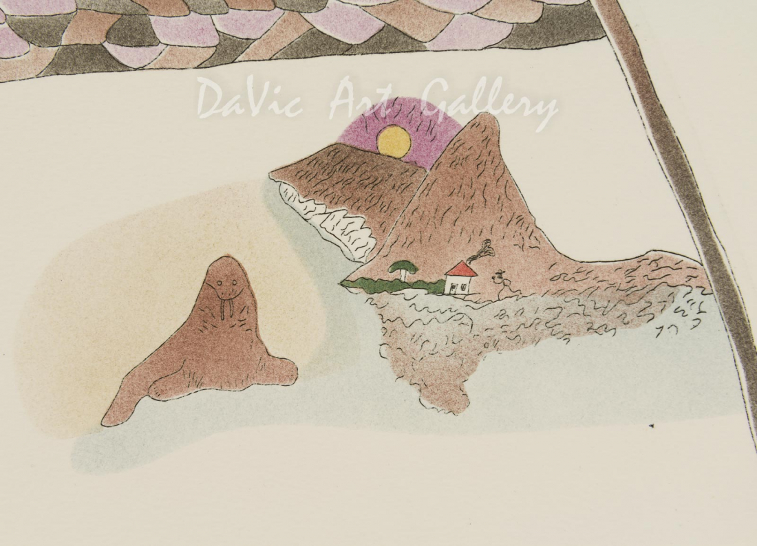 'Coexistence' by Ekidluak Komoartuk - Pangnirtung Inuit Art Limited Edition print