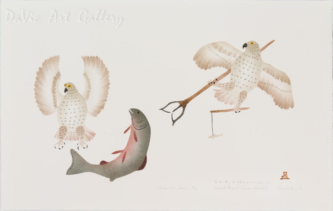 'Okpikjuak's Dream' by Kania Etungat - Pangnirtung Inuit Art Limited Edition print