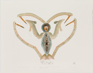 'Transforming his Image' by Ekidluak Komoartuk - Pangnirtung Inuit Art Limited Edition print
