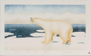 'Floe Edge Polar Bear' by Andrew Qappik - Pangnirtung Inuit Art Limited Edition print