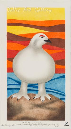 'Rock Ptarmigan' by David Poisey - Pangnirtung Inuit Art Limited Edition print