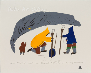 'Iqalugasuatut' by Elisapee Ishulutaq - Pangnirtung Inuit Art Limited Edition print
