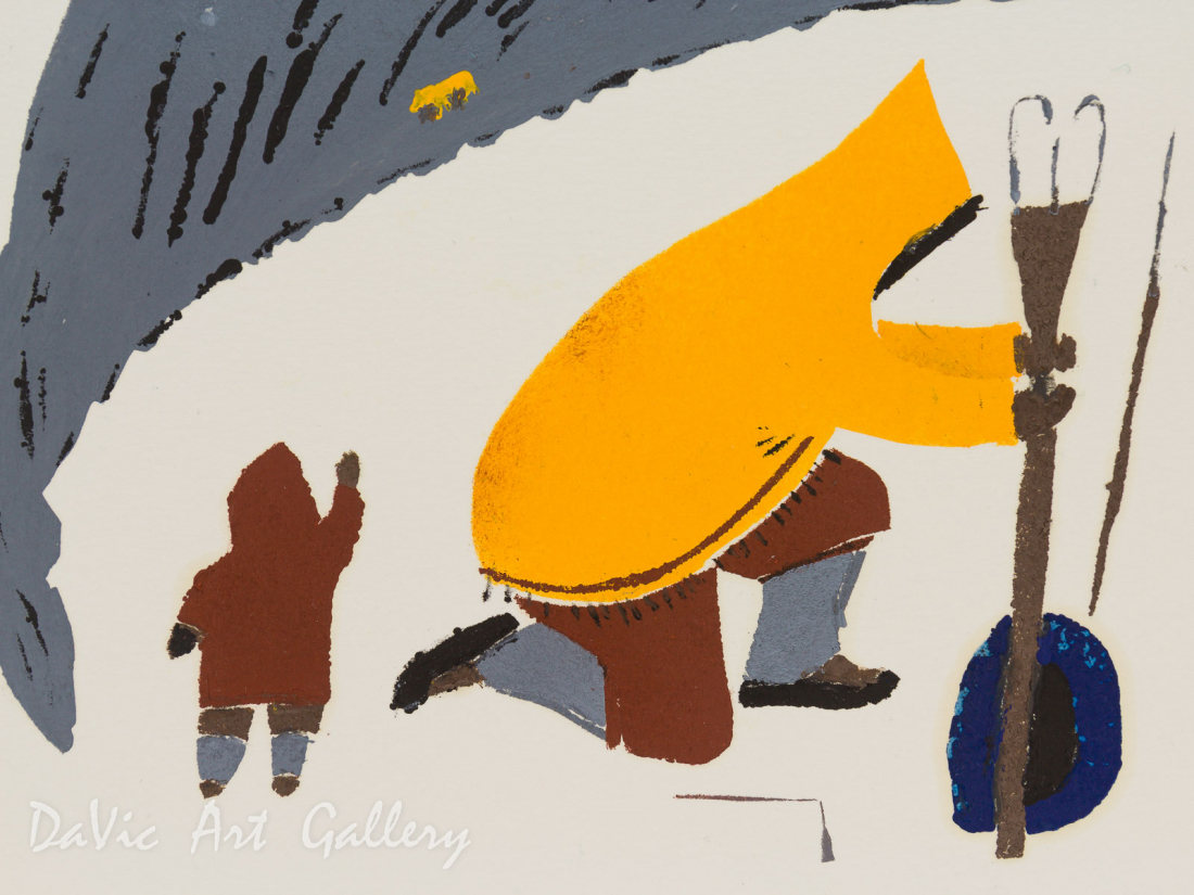 'Iqalugasuatut' by Elisapee Ishulutaq - Pangnirtung Inuit Art Limited Edition print