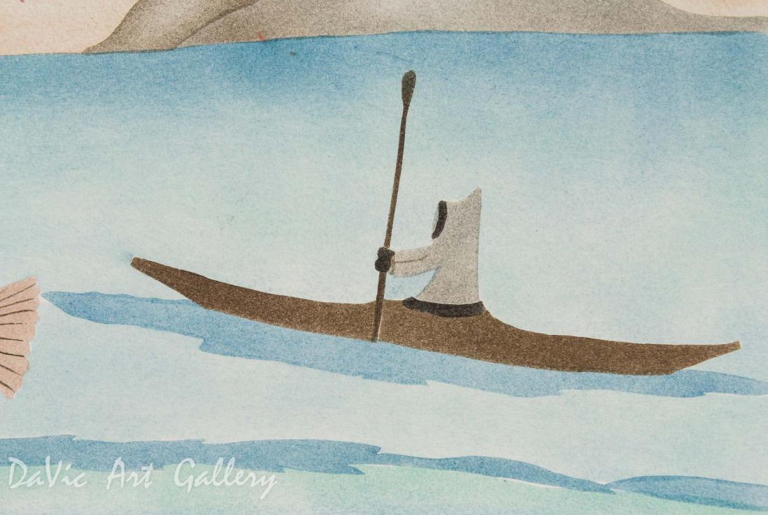 'Seal Hunter Saw a Mermaid' by Elisapee Ishulutaq - Pangnirtung Inuit Art Limited Edition print