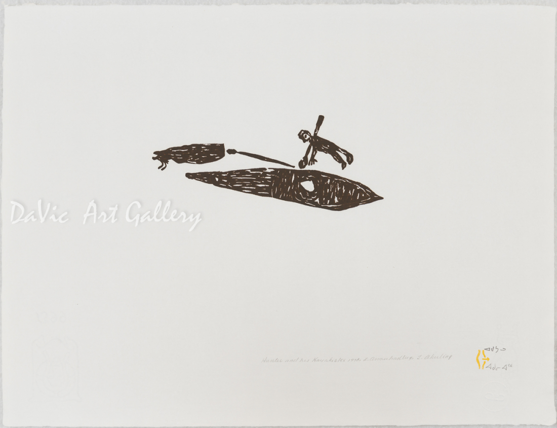 'Hunter and His Kayak' by Luke Anguhadluq