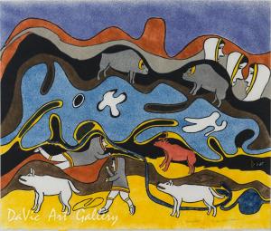 'Nunamiutat (Summer Camp People)' by Simon Tookoome