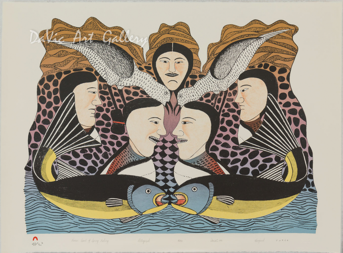 'Women Speak of Spring Fishing' by Kenojuak Ashevak