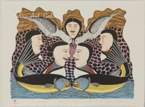 'Women Speak of Spring Fishing' by Kenojuak Ashevak