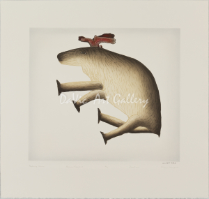 'Reclining Caribou' by Malaija Pootoogook