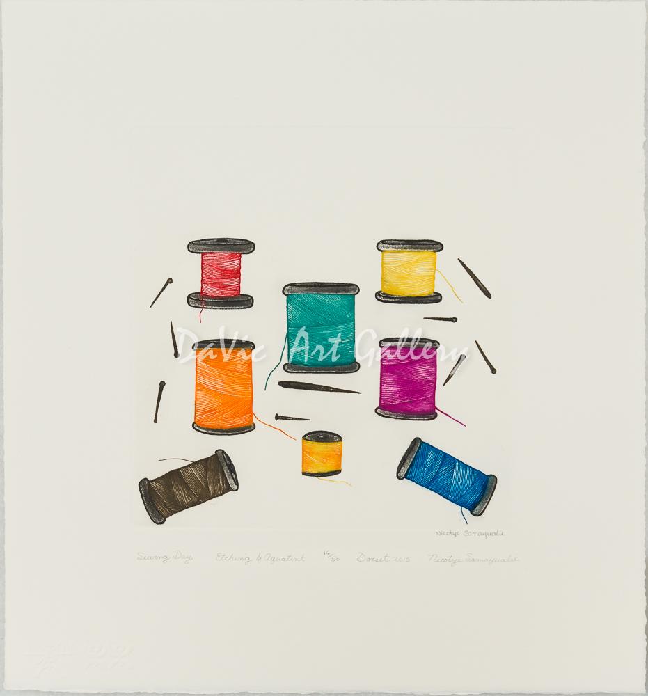 'Sewing Day' by Nicotye Samayualie