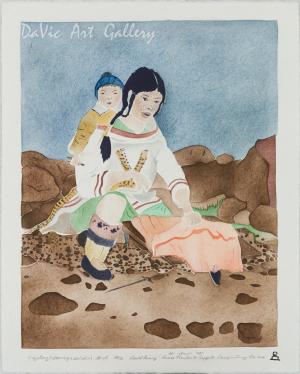 'Majjaturq (Cleaning a sealskin)' by David Poisey