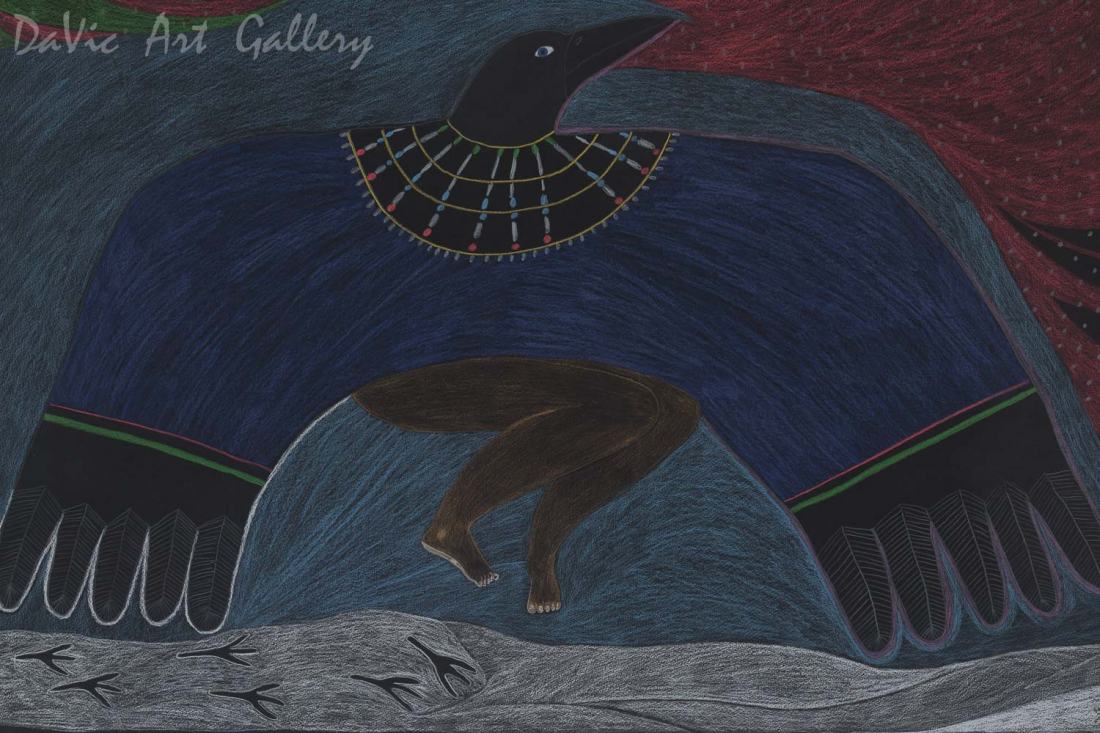 'The Woman Turned into a Raven' by Ningeokuluk Teevee