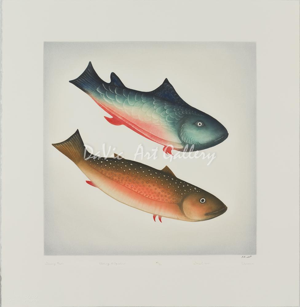 'Diving Fish' by Pitaloosie Saila