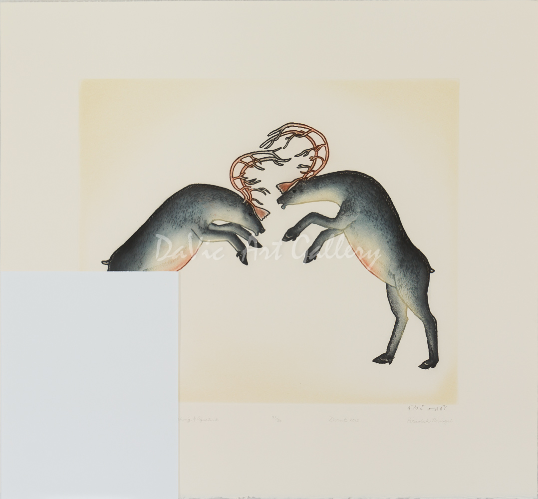 'Rutting Caribou' by Pitseolak Niviaqsi