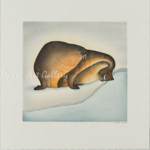 'Sheltered Calf' by Pitseolak Niviaqsi