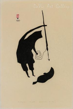 'Man Killing Seal' by Akesuk Tudlik