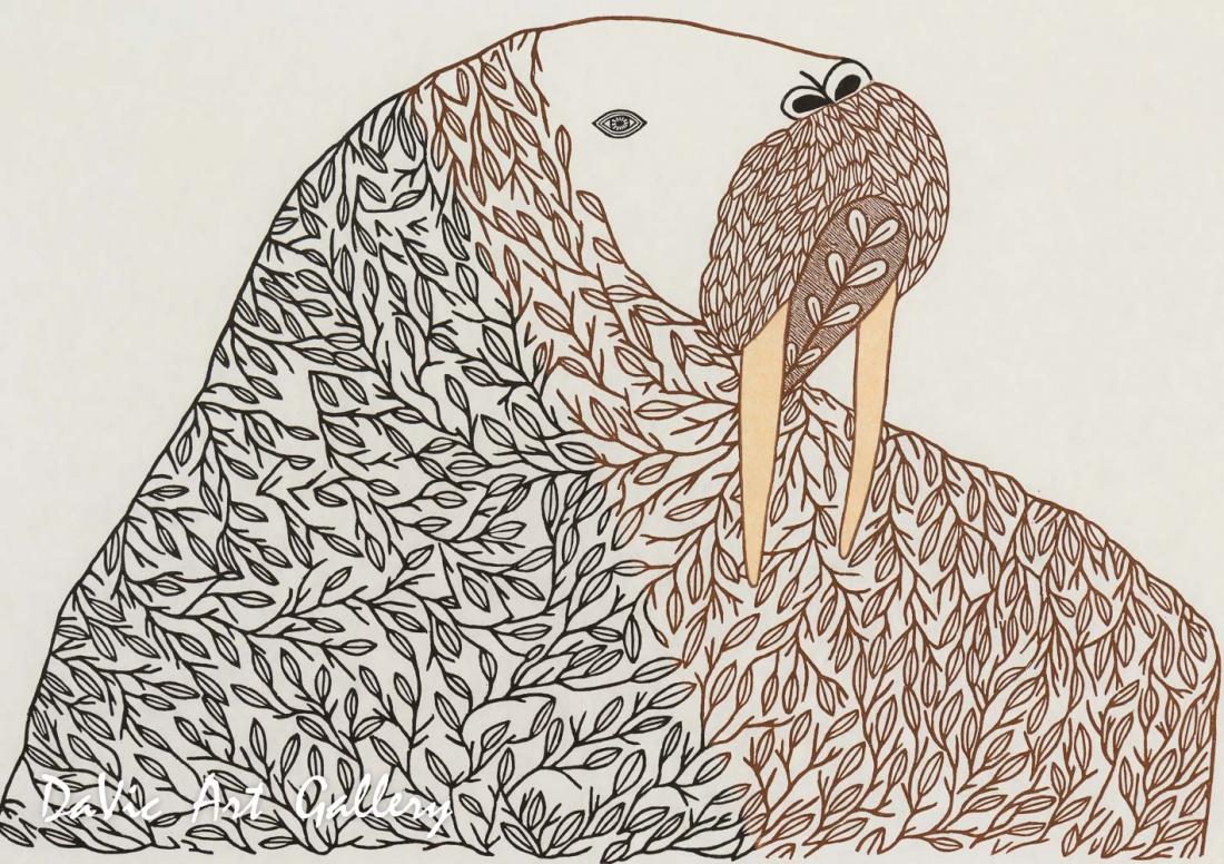 'Floral Transformation' by Ningeokuluk Teevee