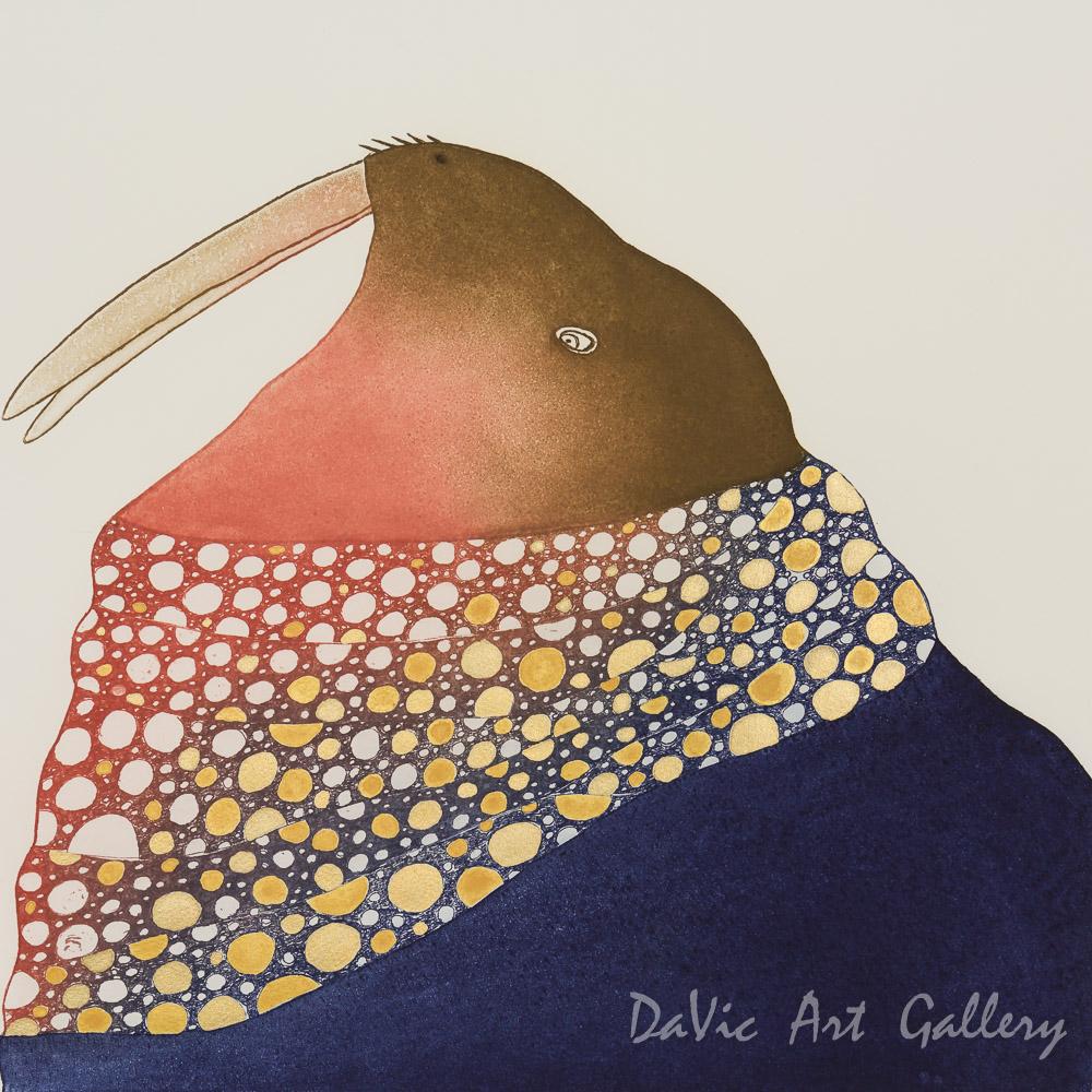 'Glitering Walrus' by Ningeokuluk Teevee