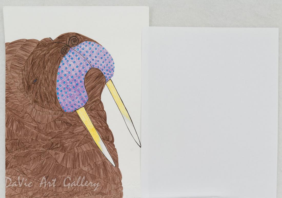 'Sleepy Walrus' by Ningeokuluk Teevee