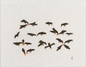 'Feeding Ravens' by Olooreak Etungat